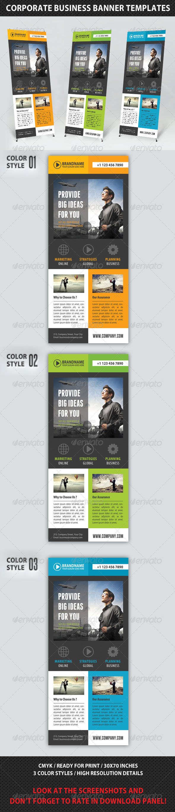 GraphicRiver Corporate Multipurpose Banner Template 68 8731958
