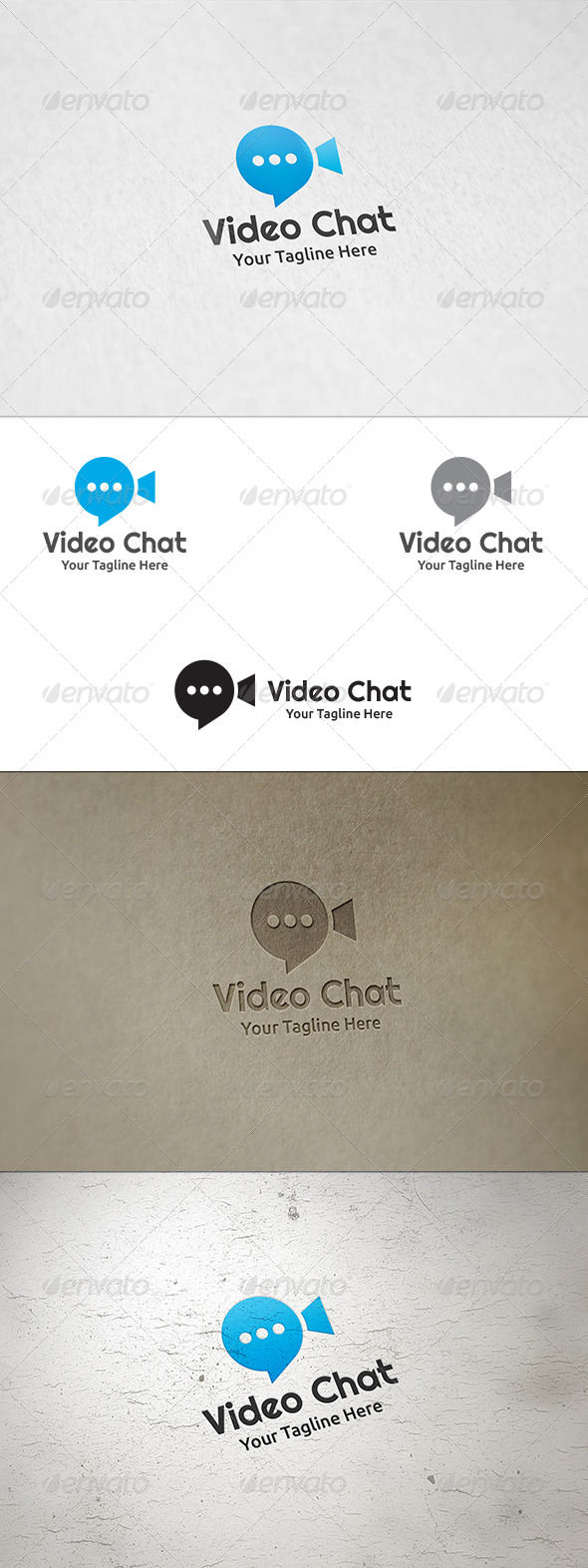 GraphicRiver Video Chat Logo Template 8732025