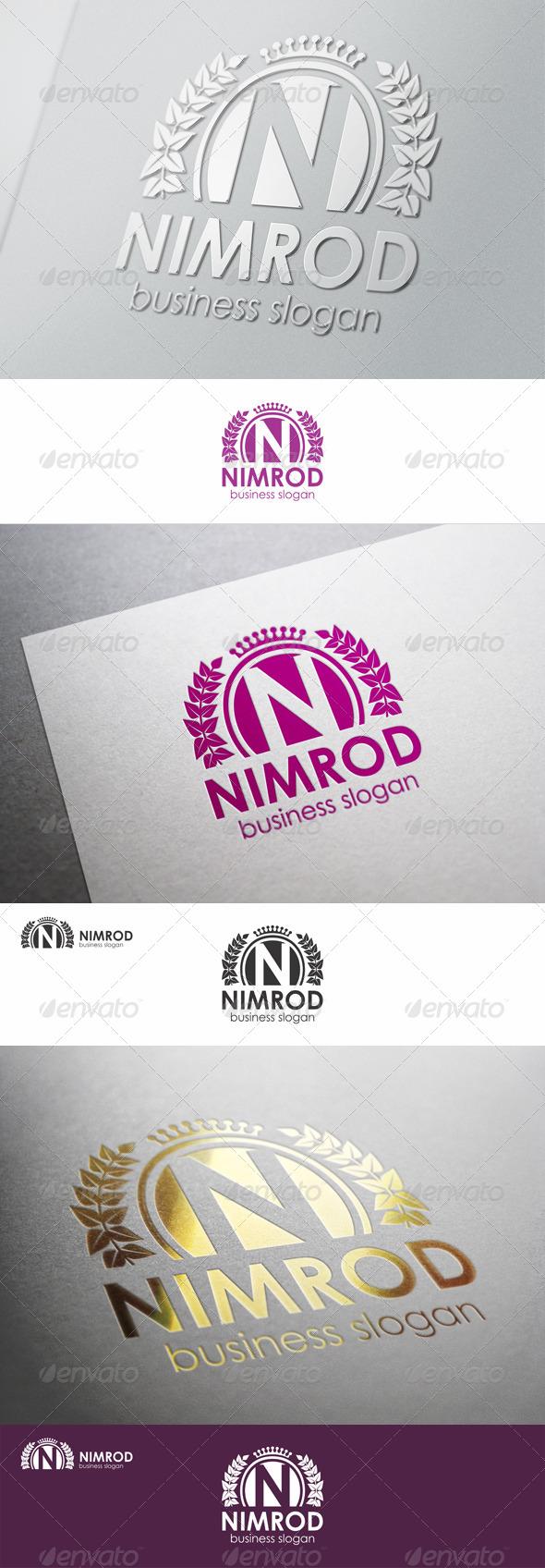 N Fashion Crest - Nimrod Logo Template - Crests Logo Templates