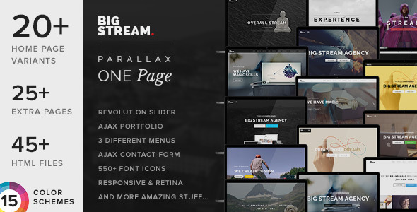 ThemeForest BigStream One Page Multi-Purpose Template 8732098