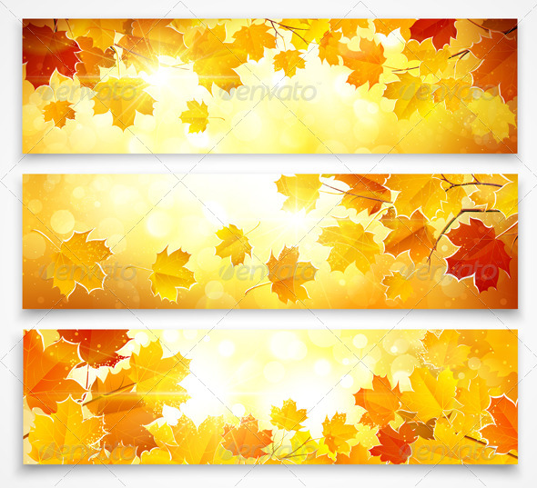 GraphicRiver Collection of Autumn Banners 8732332