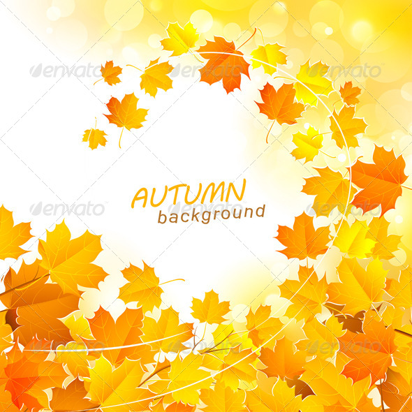 GraphicRiver Autumn Leaf Fall Background 8732349