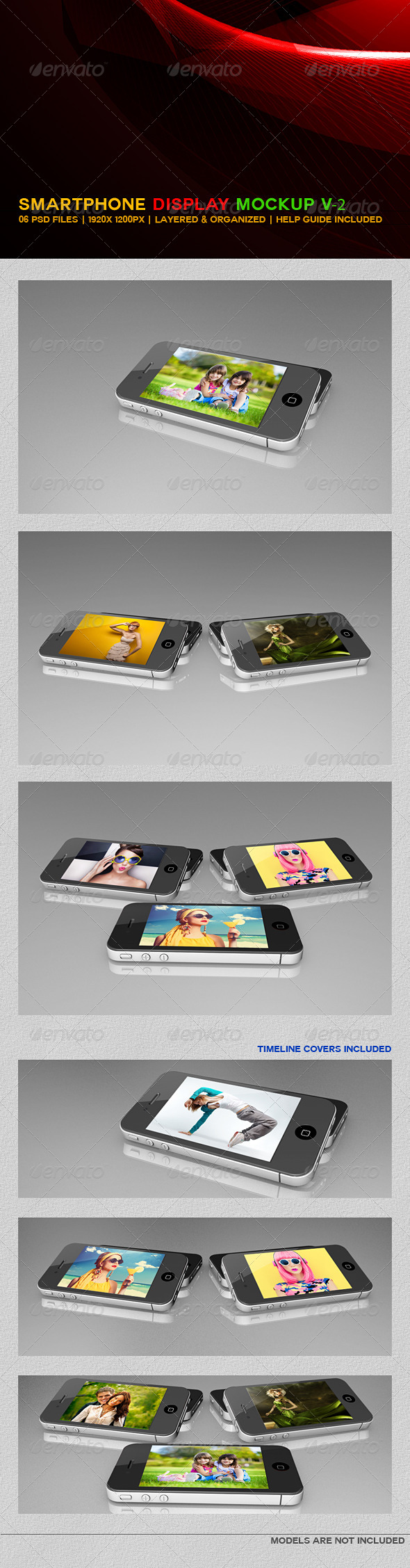 Smartphone Display Mockup V2 - Mobile Displays