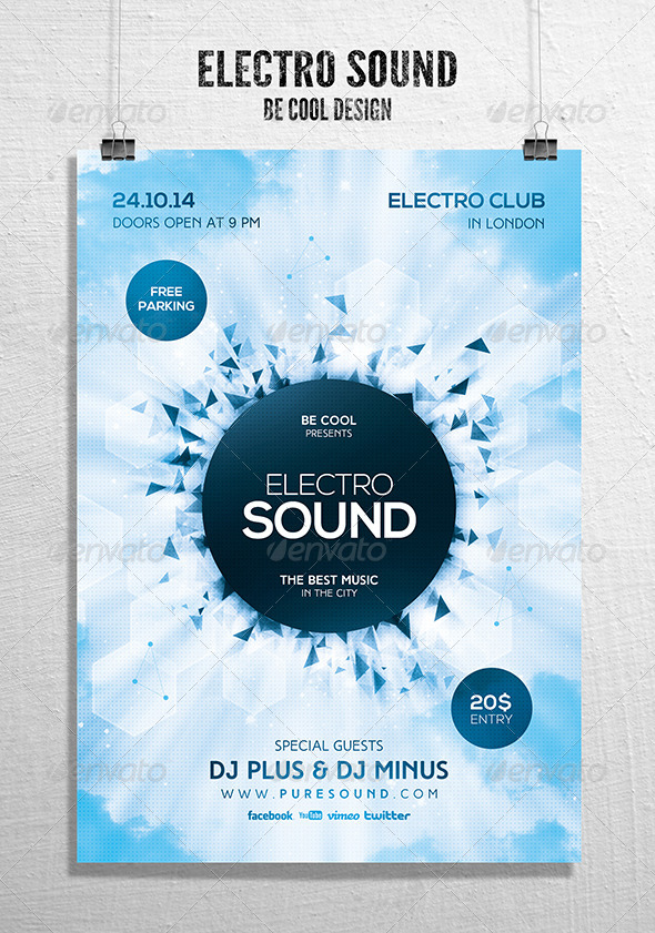 GraphicRiver Electro Flyer Poster 8732902