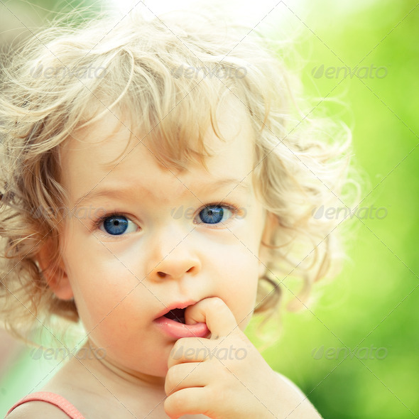 Smiling child - Stock Photo - Images