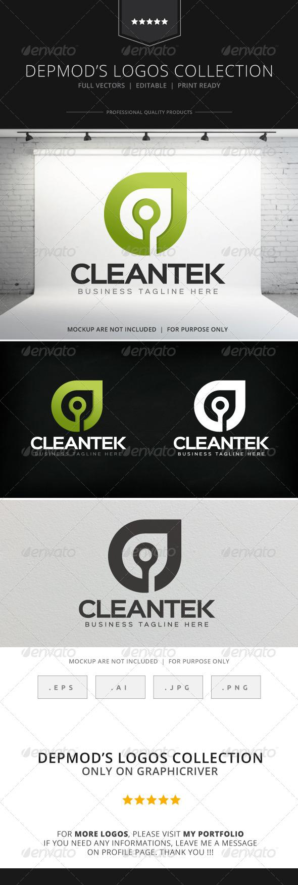 GraphicRiver Cleantek Logo 8733093