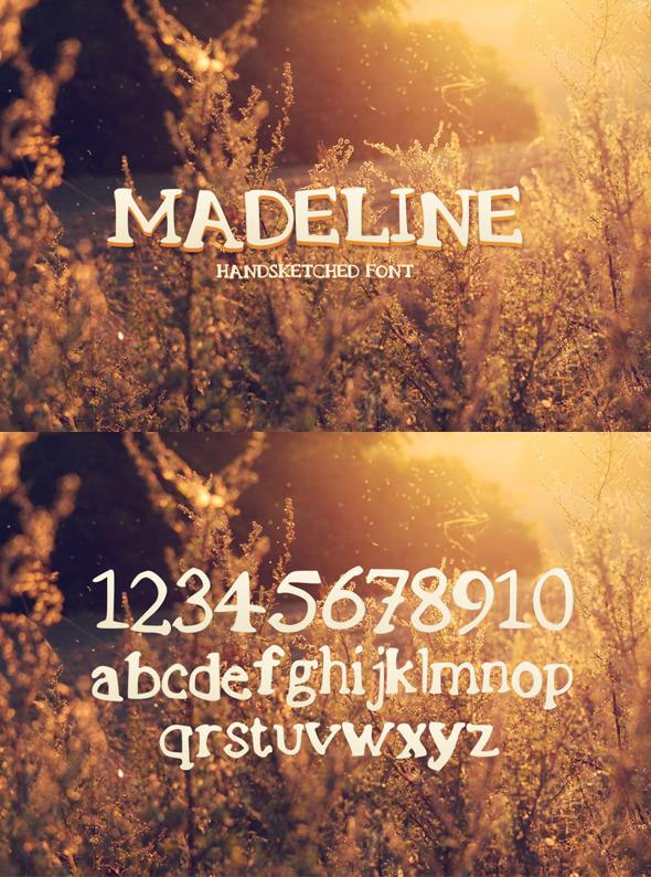 GraphicRiver Madeline Handsketched Font 8733733