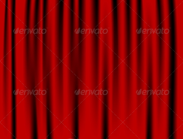 GraphicRiver Luxury Red Curtain 8733905