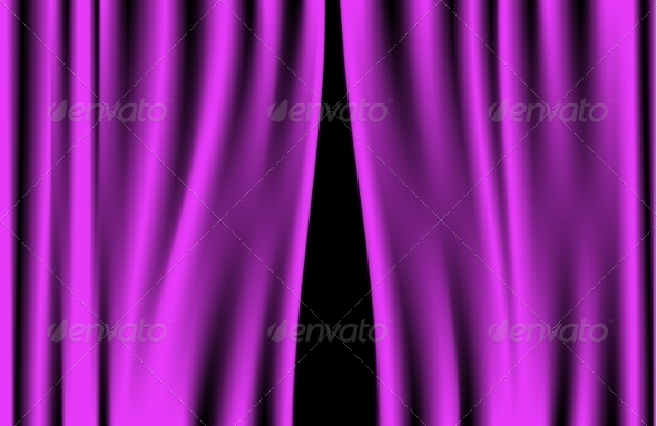 GraphicRiver Luxury Purple Curtain 8733949