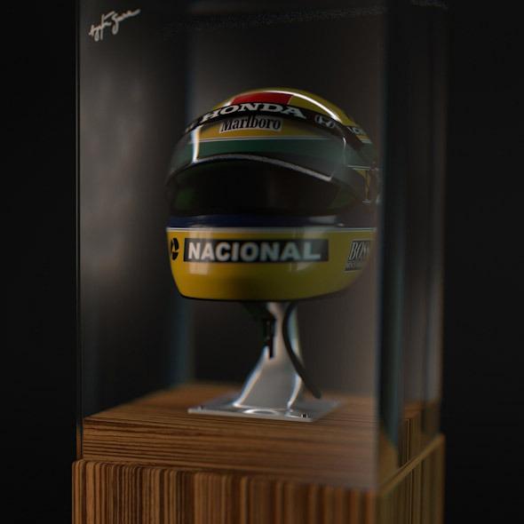 Senna Shoei X4 X-Four Helmet - 3DOcean Item for Sale