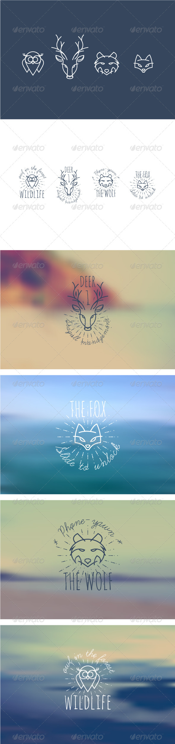 GraphicRiver Animal Insignias 8734269