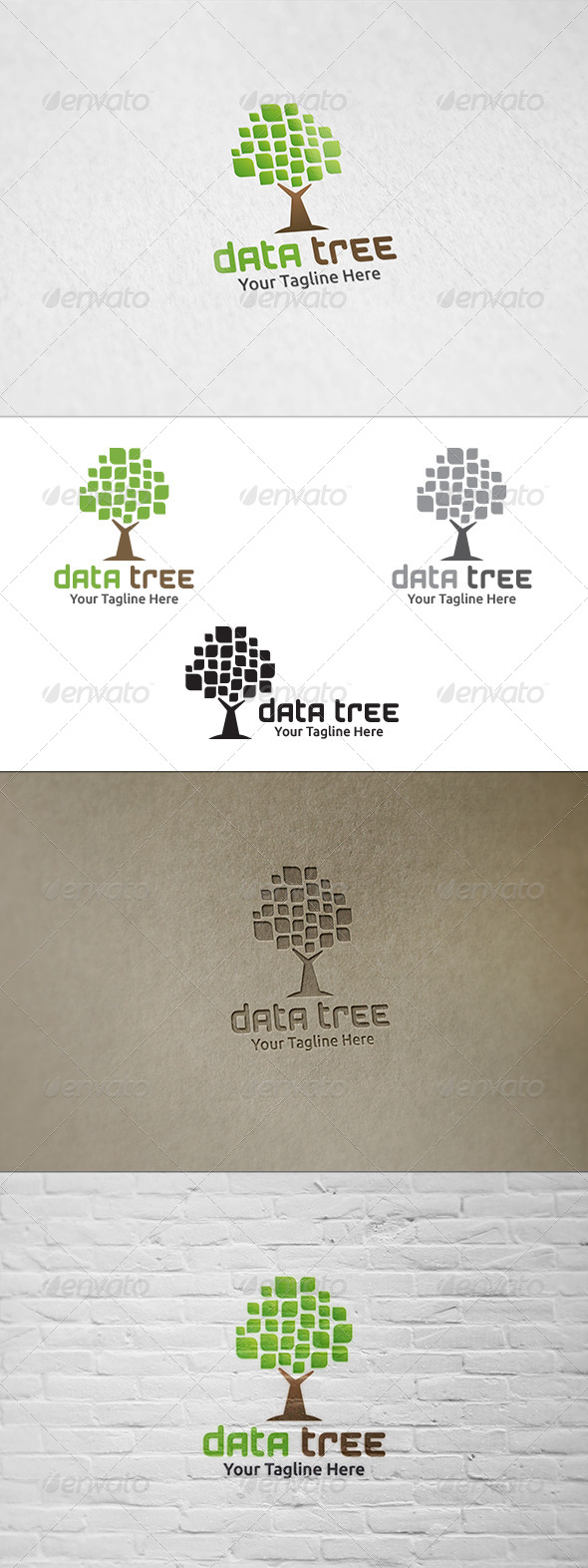 GraphicRiver Data Tree Logo Template 8735280