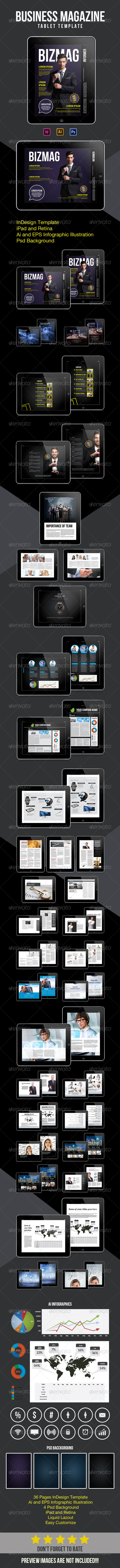 GraphicRiver Tablet Bussines Magazine 8736510