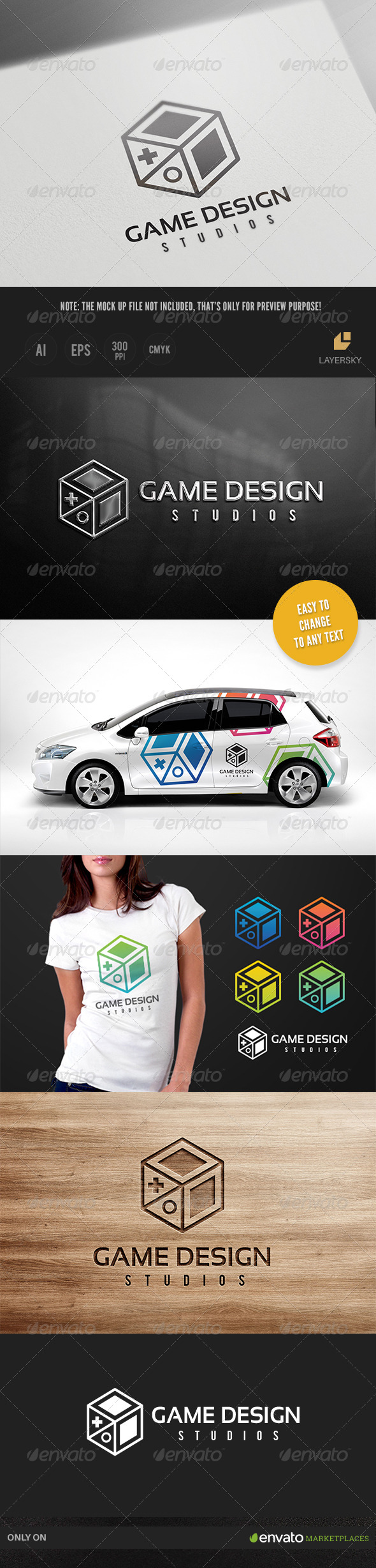 GraphicRiver Game Design Logo 8736591