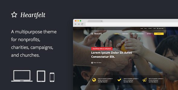 ThemeForest Heartfelt Multipurpose Responsive WordPress Theme 8736606