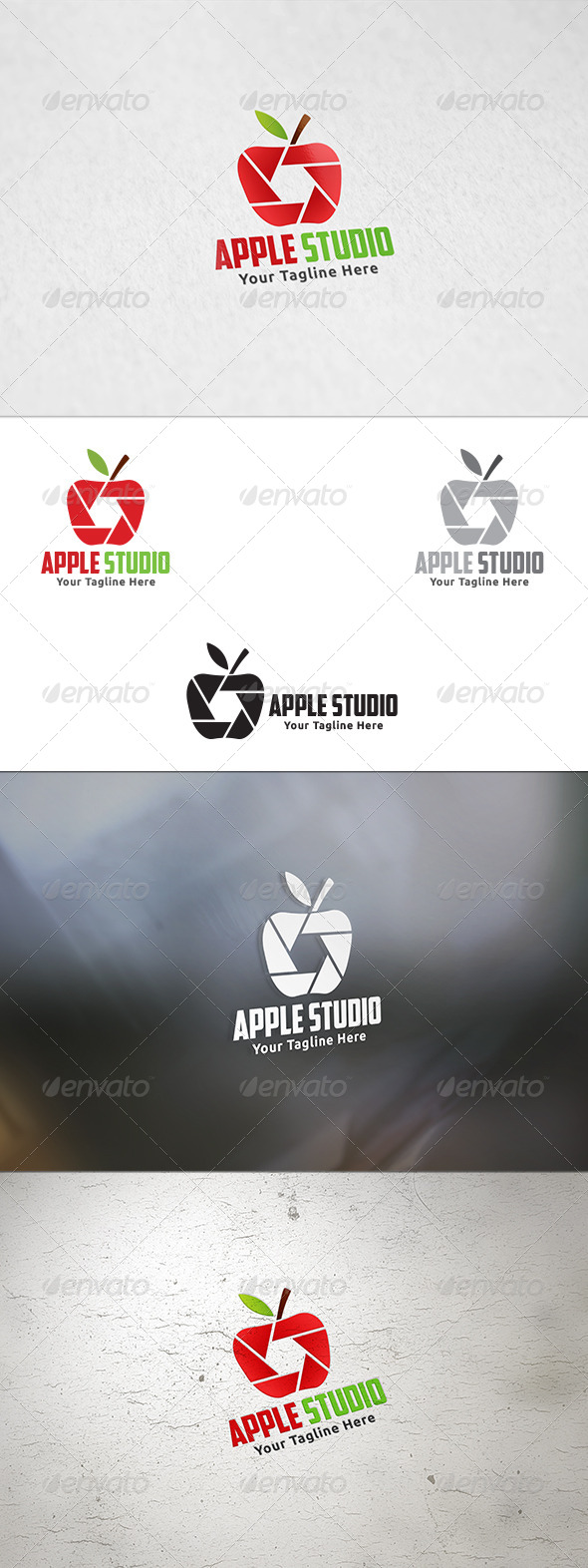 GraphicRiver Apple Studio Logo Template 8736650