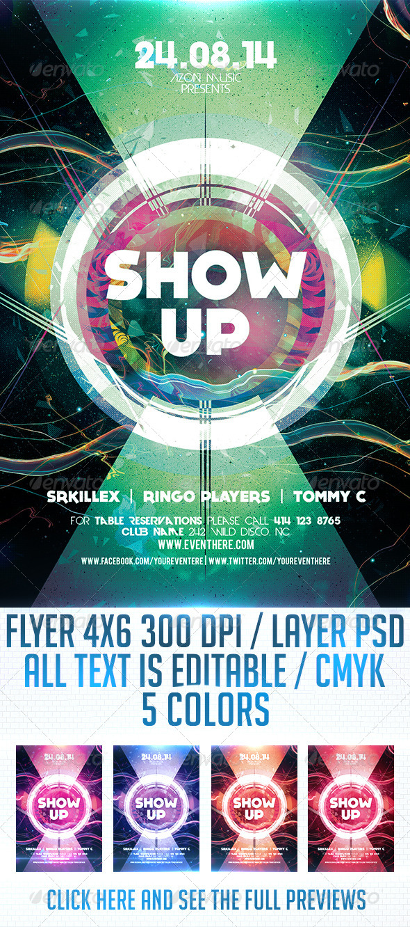 GraphicRiver Show Up Flyer Template 8712532