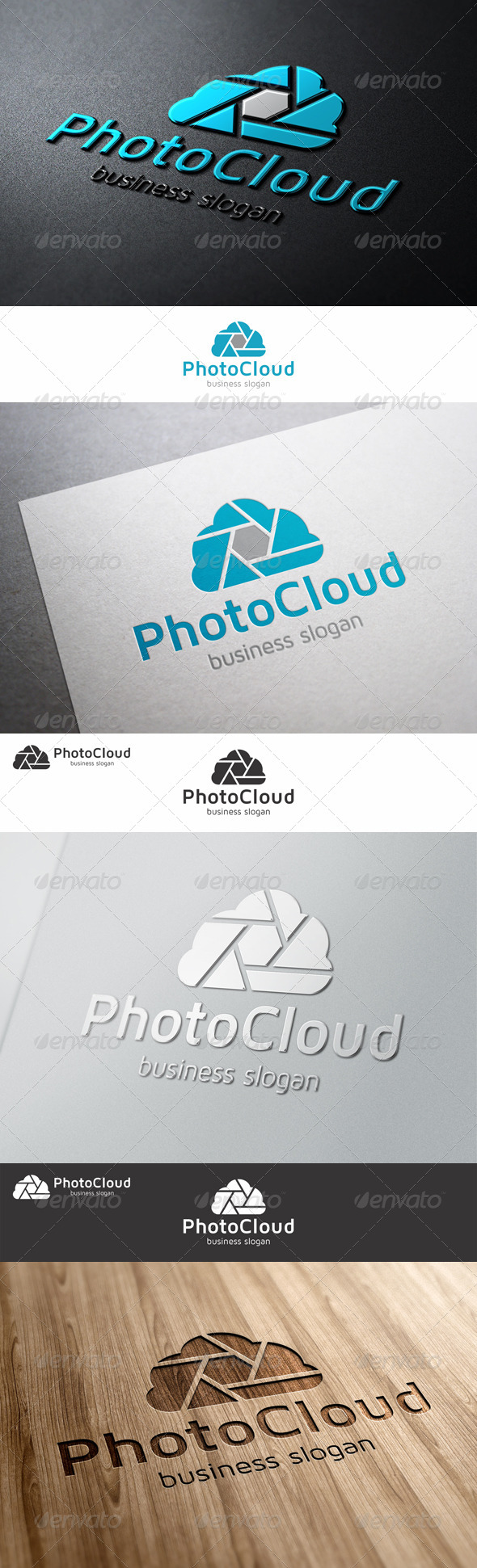Photo Cloud Logo Template - Symbols Logo Templates