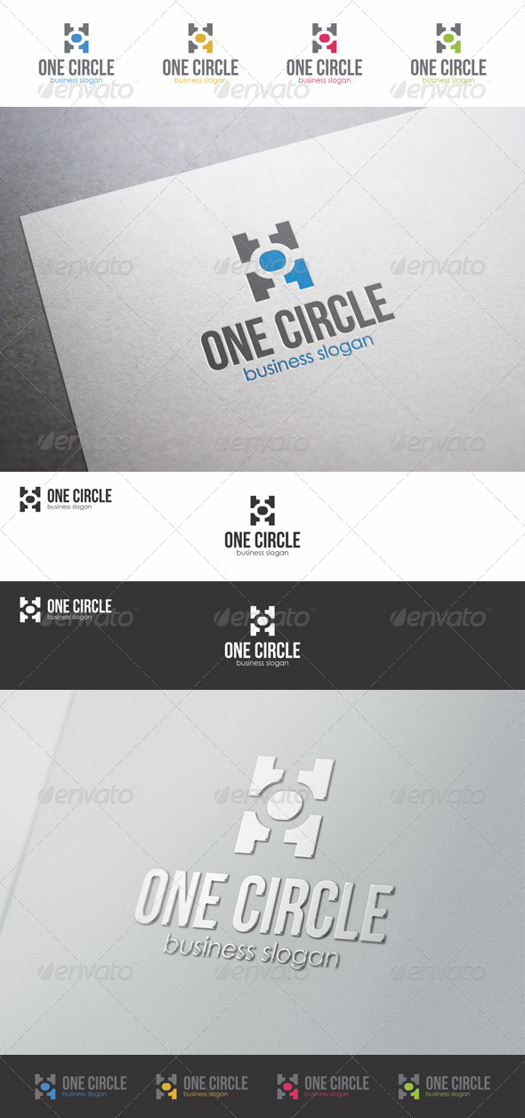 GraphicRiver One Circle Number One Logo 8736957