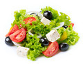 Greek Salad isolated on a White Background - PhotoDune Item for Sale