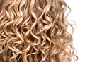 Wavy curly blonde hair closeup. Texture of permed hair - PhotoDune Item for Sale