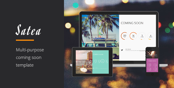 ThemeForest Satea Responsive Multi-purpose Coming Soon Page 8723088