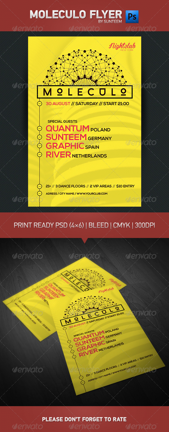 GraphicRiver Moleculo Flyer Template 8715804