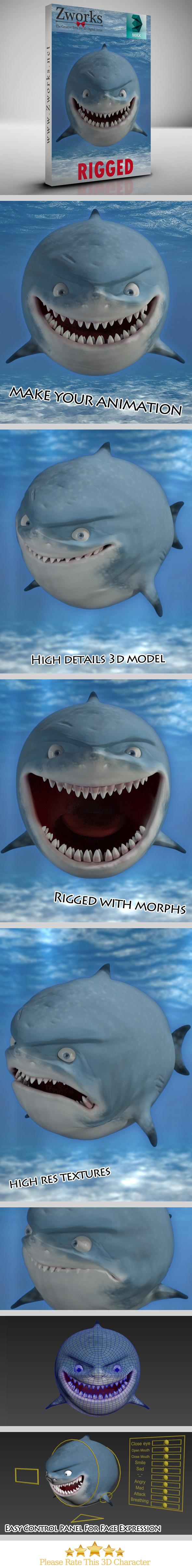 Shark - 3DOcean Item for Sale