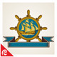 Vintage Nautical Badge - GraphicRiver Item for Sale