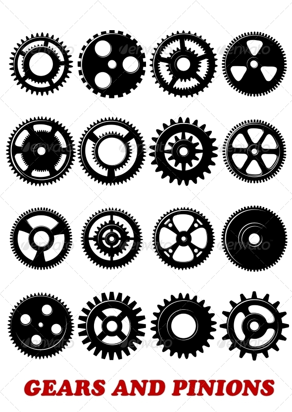 GraphicRiver Gears and Pinions Set 8737201