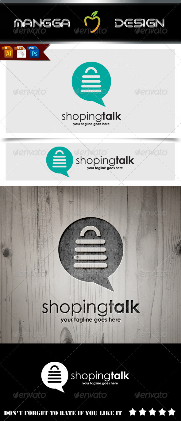 GraphicRiver Shoping Talk Logo 8737421