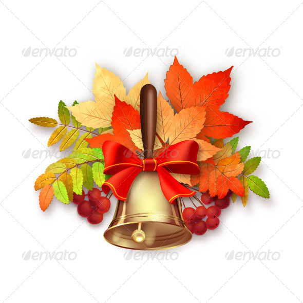 GraphicRiver Autumn Vector Fall Leaves and Bell 8737478