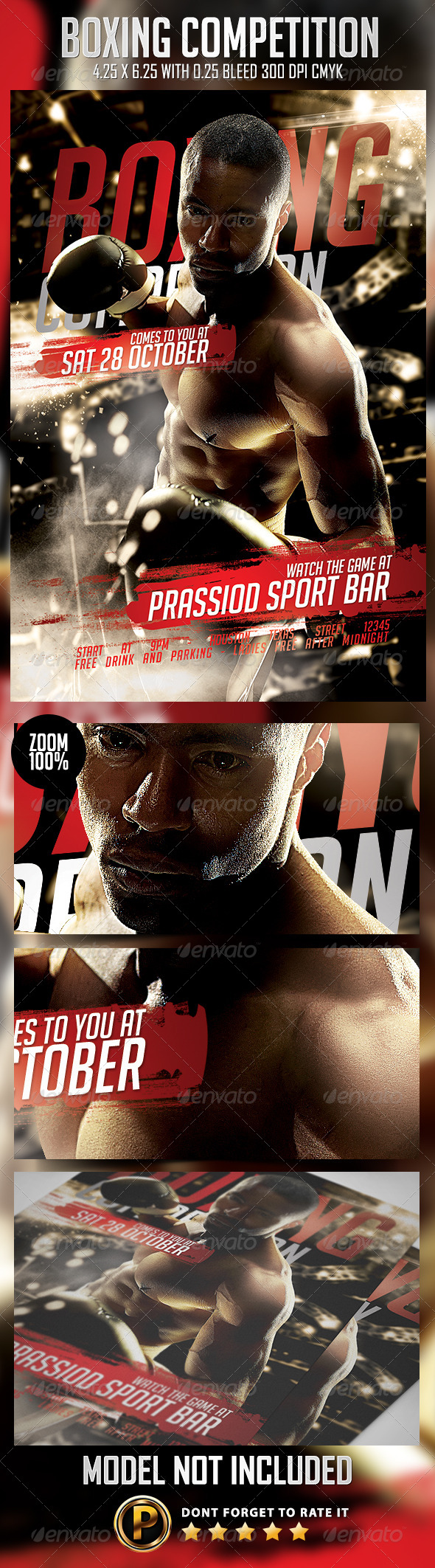 GraphicRiver Boxing Competition Flyer Template 8737492