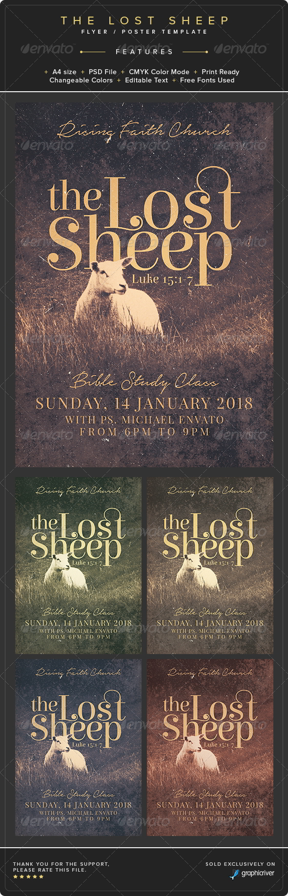GraphicRiver The Lost Sheep Flyer Poster Template 8737493