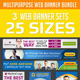 Multipurpose Web Banner Ad Design Set Bundle - GraphicRiver Item for Sale