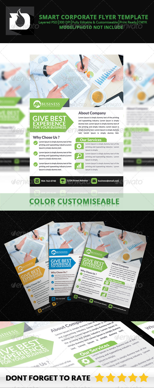 GraphicRiver Smart Corporate Flyer Template V4 8737541