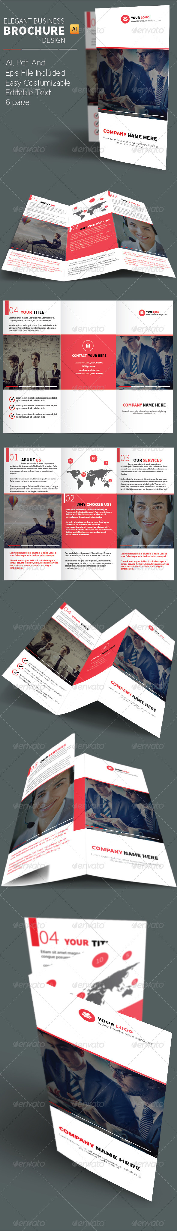 GraphicRiver Elegant Business Brochure Design 8737707