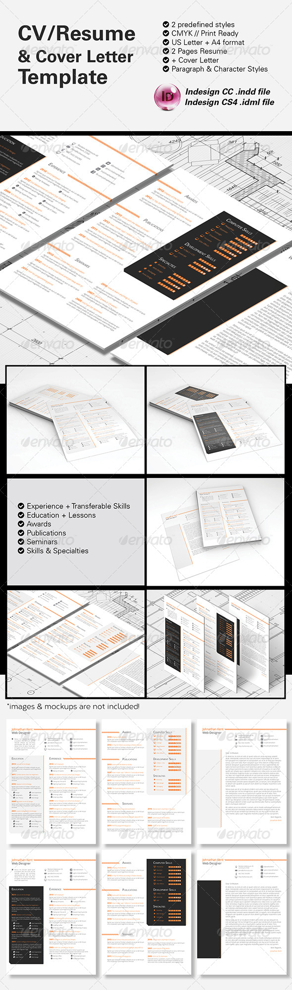 GraphicRiver CV Resume & Cover Letter A4 & US Letter 8683512