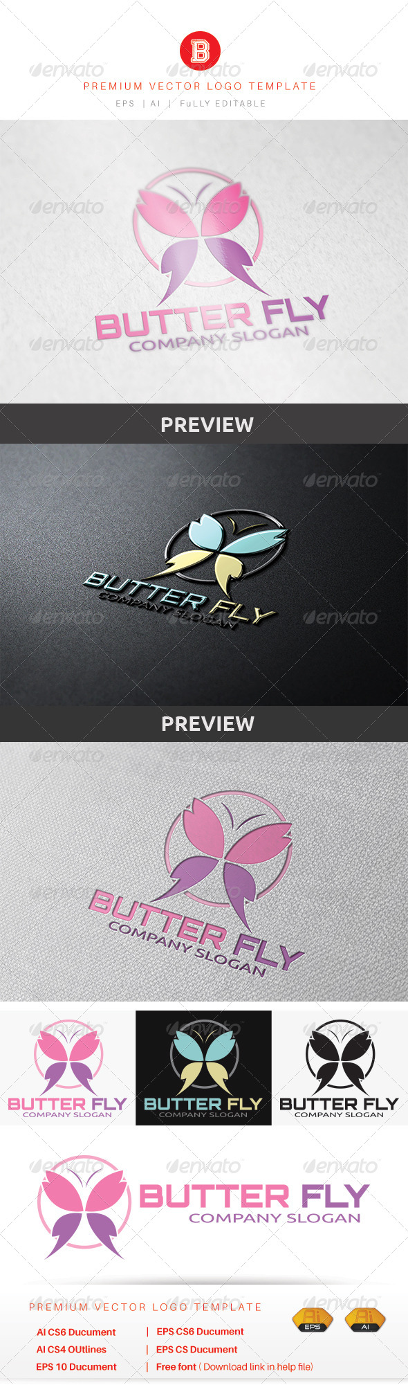 GraphicRiver Butterfly Logo 8737835
