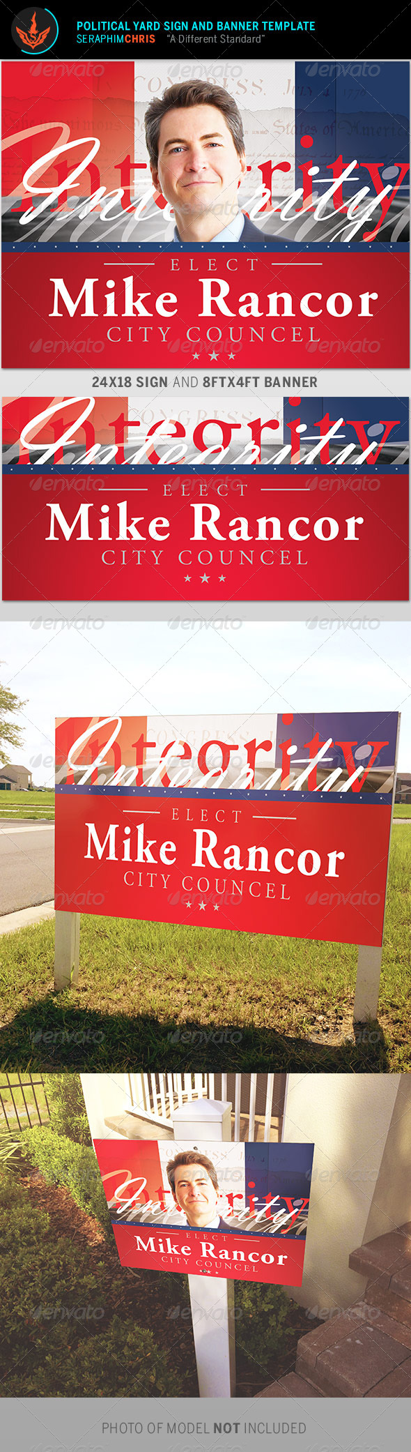 GraphicRiver Political Yard Sign and Banner Template 8737846