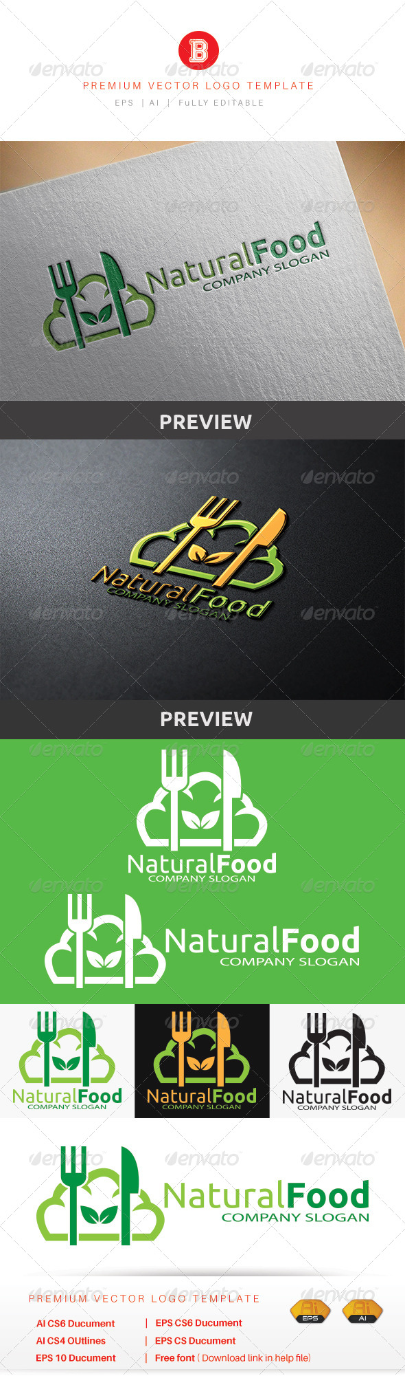 GraphicRiver Natural Food 8737850