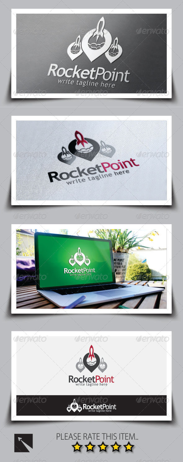 GraphicRiver Rocket Point Logo Template 8737997