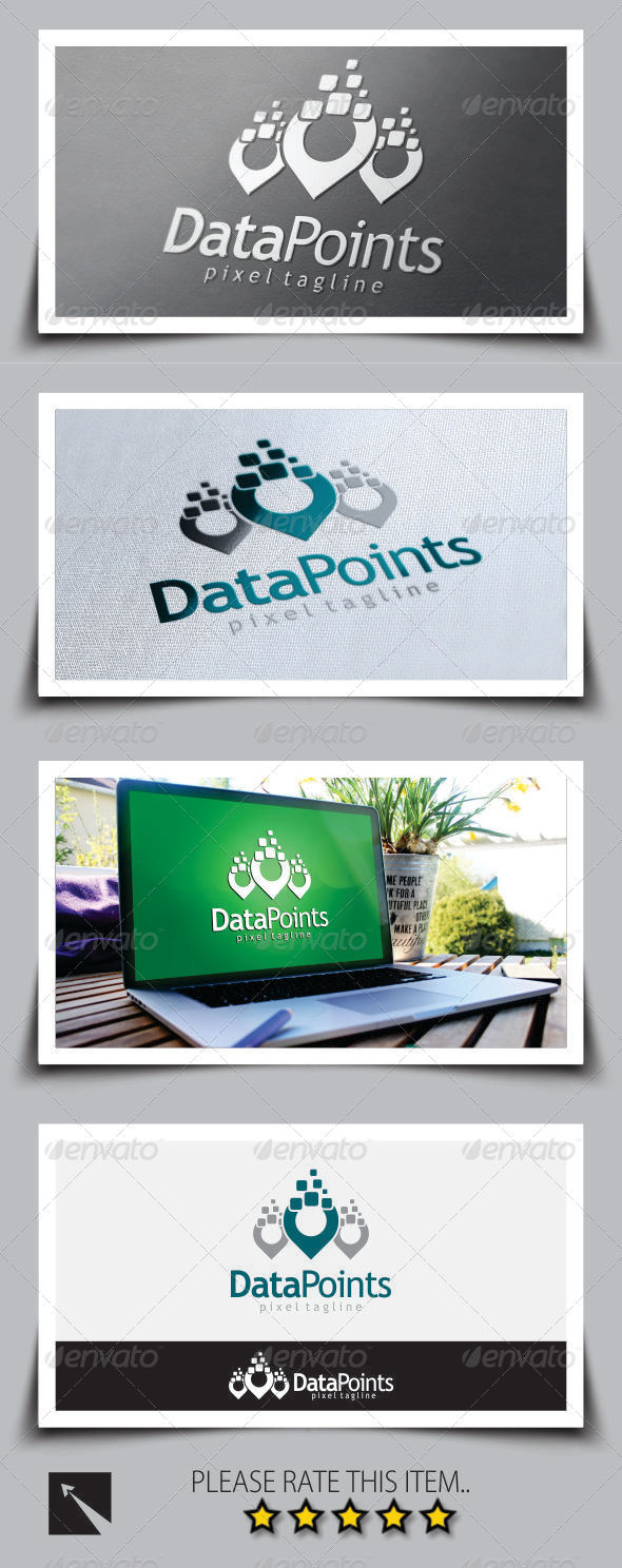GraphicRiver Data Point Logo Template 8738076