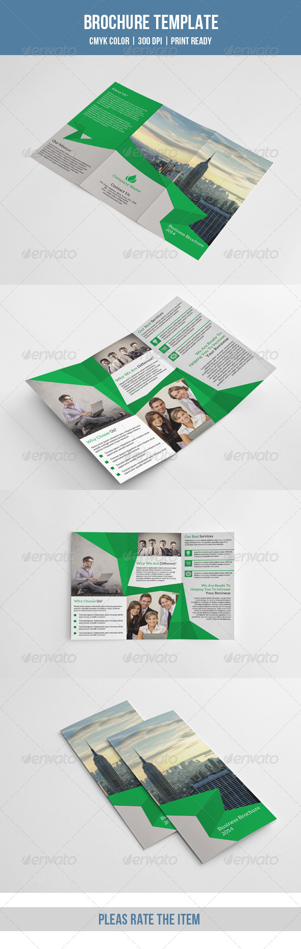 GraphicRiver Trifold Business Brochure-V60 8738098