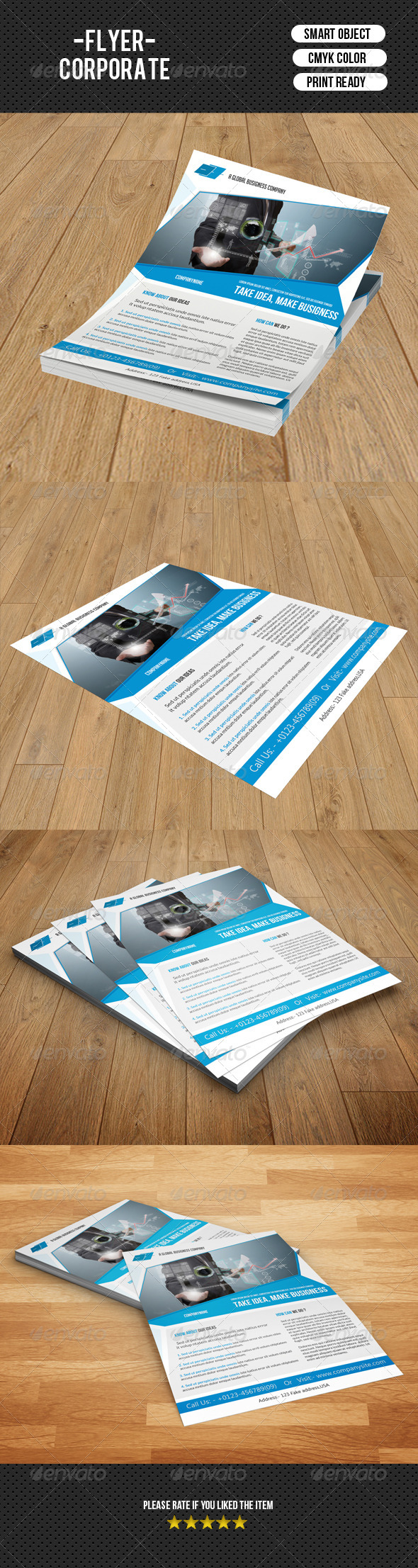 GraphicRiver Creative Business Flyer-V121 8738204