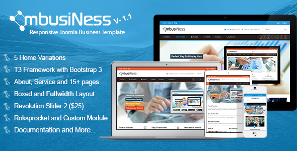 MbusiNess Responsive Joomla Business Template