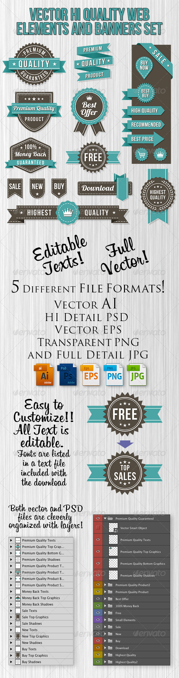 GraphicRiver Vector Web Design Banners and Elements 8721621