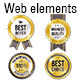 Golden Vector Web Elements Set