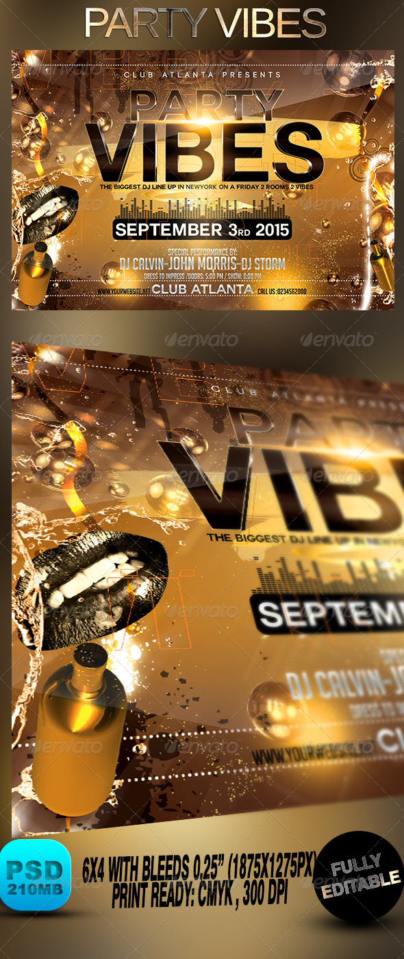 GraphicRiver Party Vibes 8738782