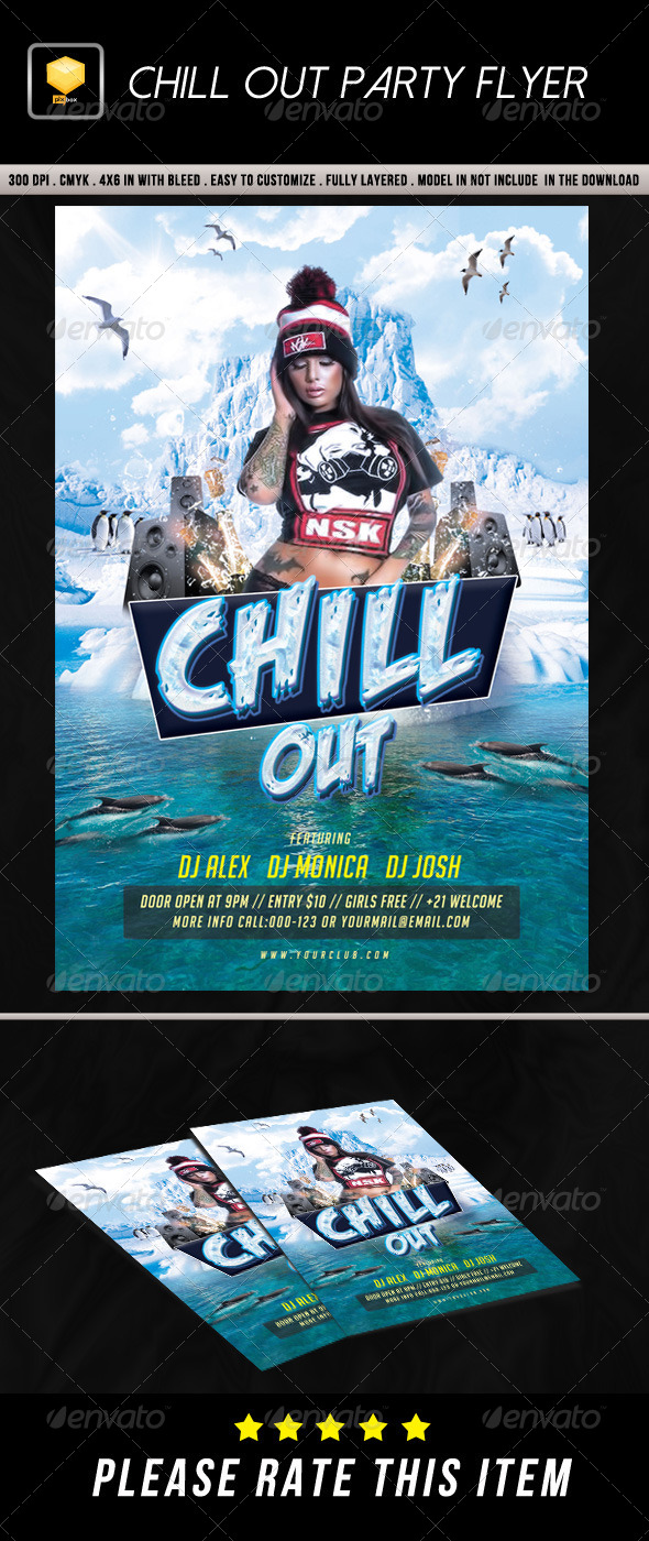 GraphicRiver Chill Out Party Flyer 8738810